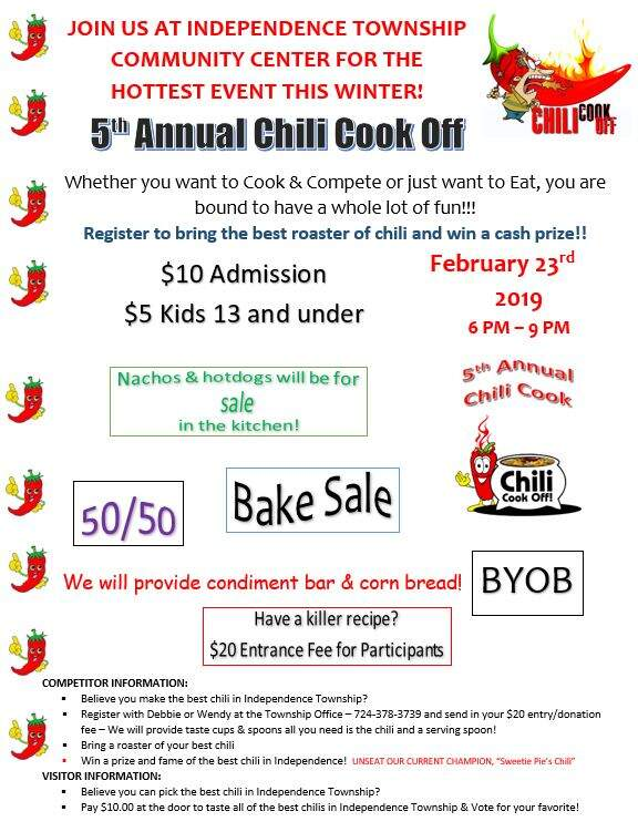 5th Annual Independence Township Chili Cook Off