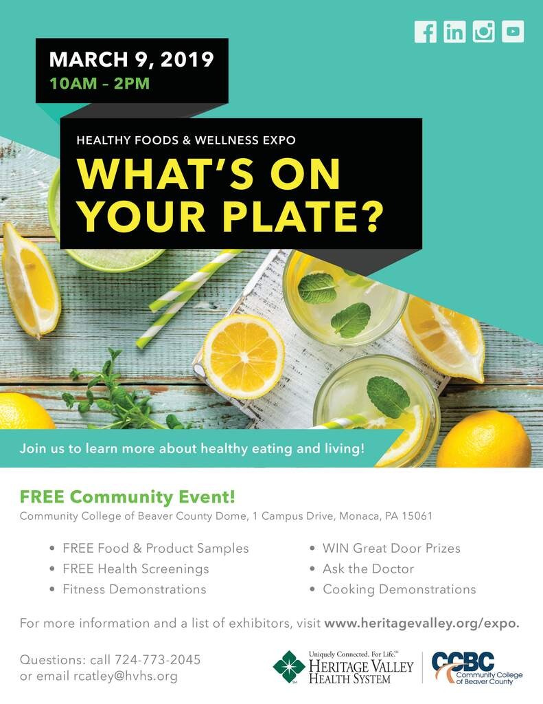 """What's On Your Plate?"" Healthy Foods & Wellness Expo"