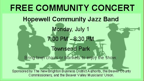 Hopewell Community Jazz Band Concert