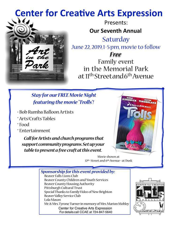 Seventh Annual Art in the Park