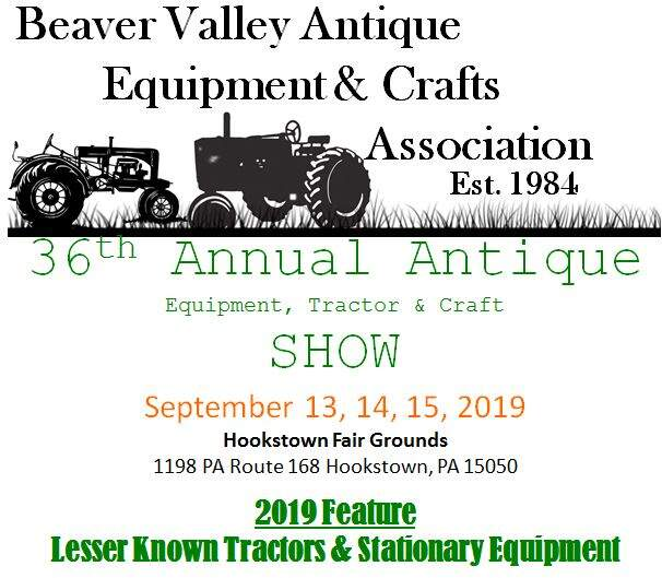 Beaver Valley Antique Equipment and Crafts Association annual show