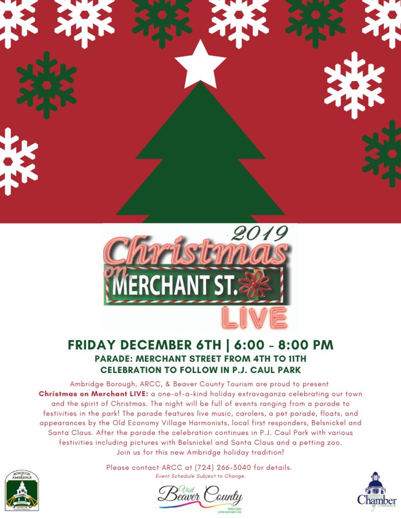 Christmas on Merchant LIVE