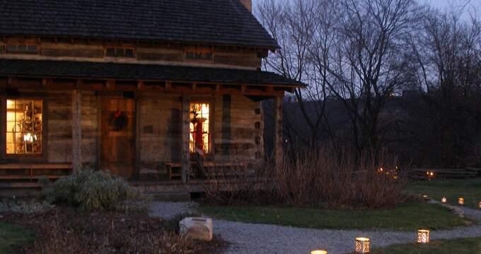 Santa at the Log Cabin