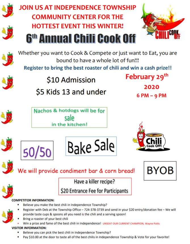 6th Annual Independence Township Chili Cook Off