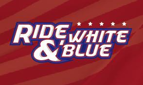 Progressive Insurance Ride, White, & Blue 4th of July  Weekend Celebration