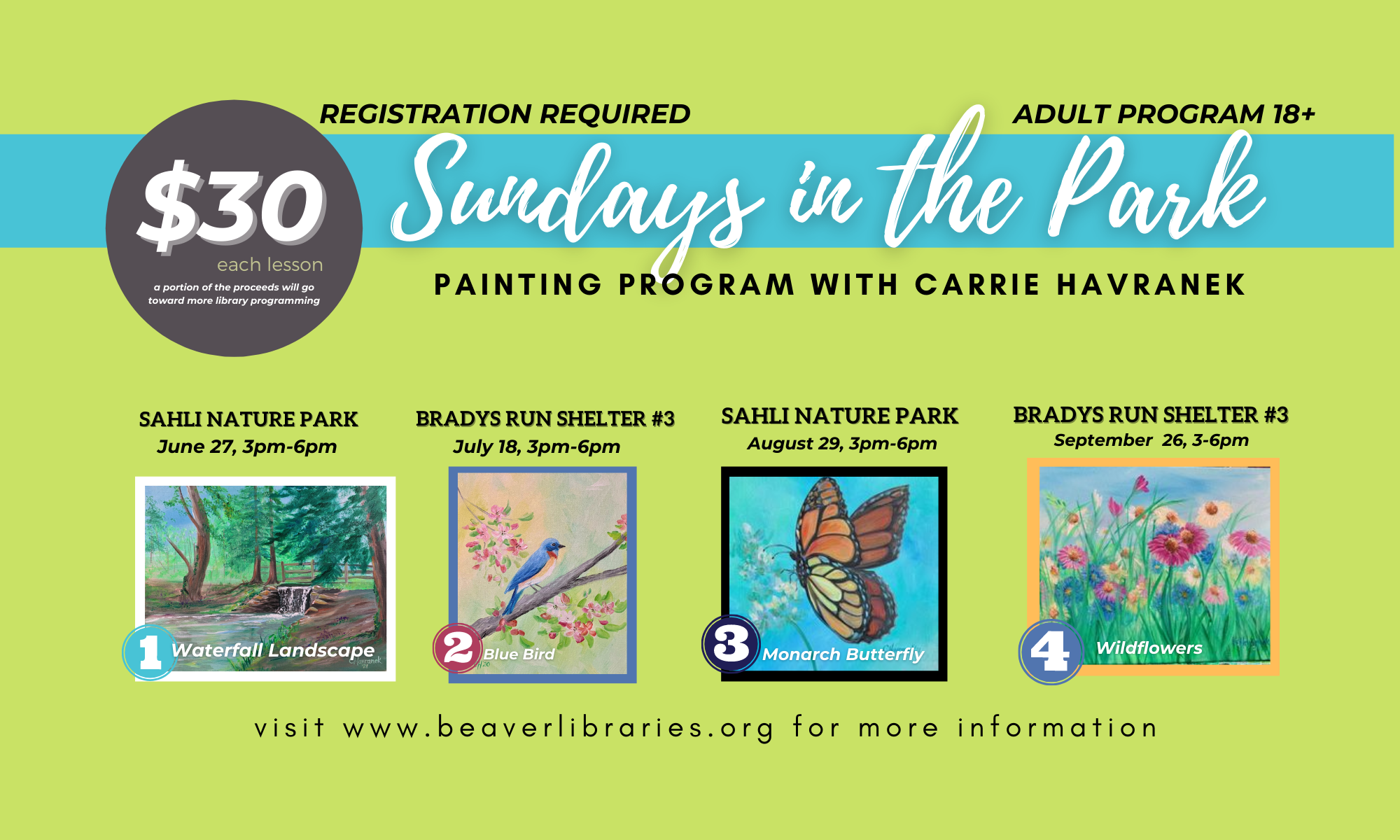 Painting in the Park with Carrie