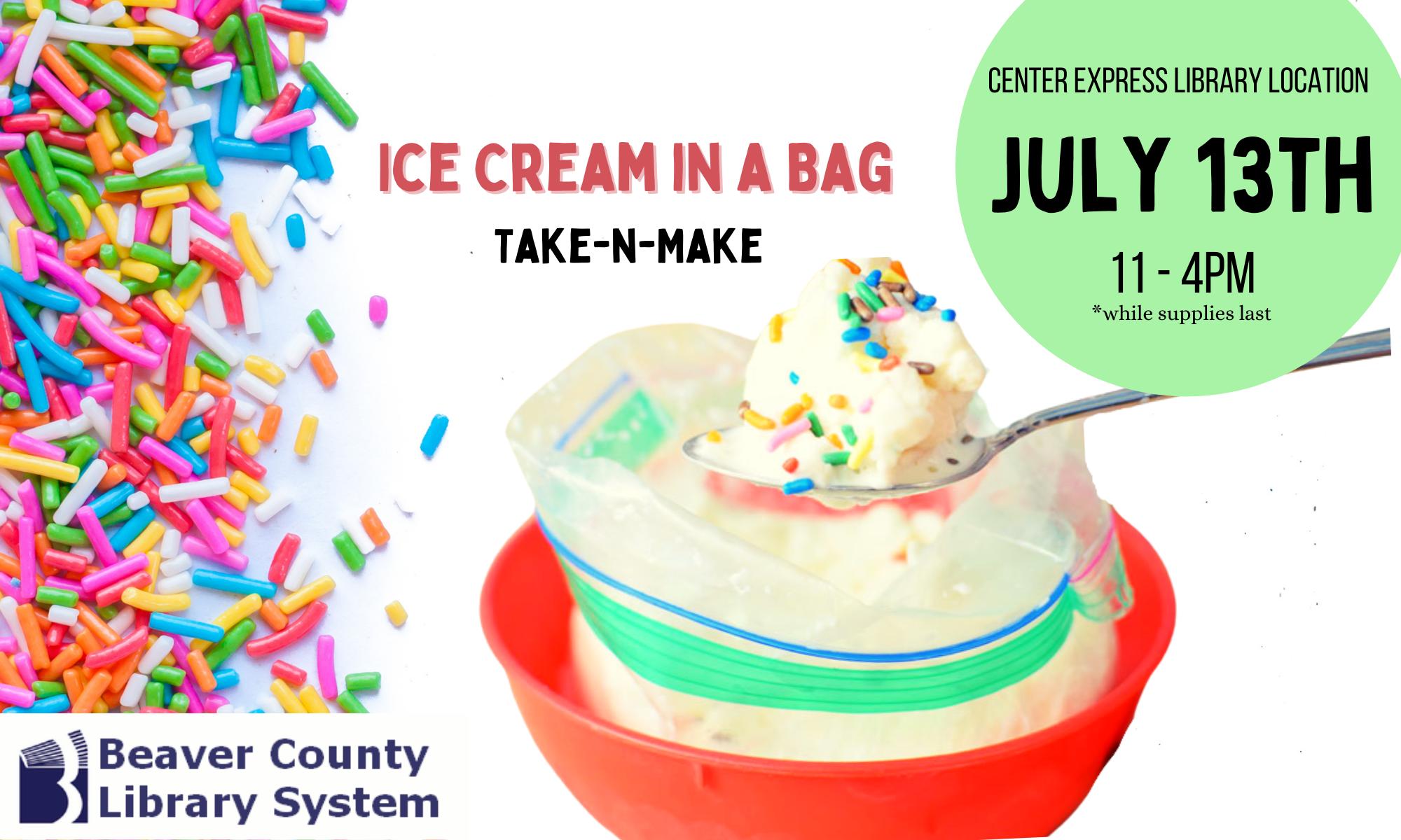 Take-n-Make Tuesday: Ice Cream in a Bag