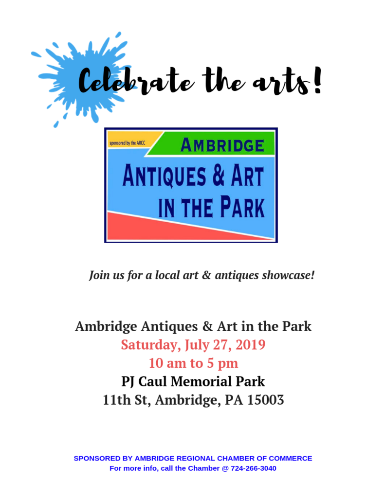 3rd Annual Antiques & Art in the Park