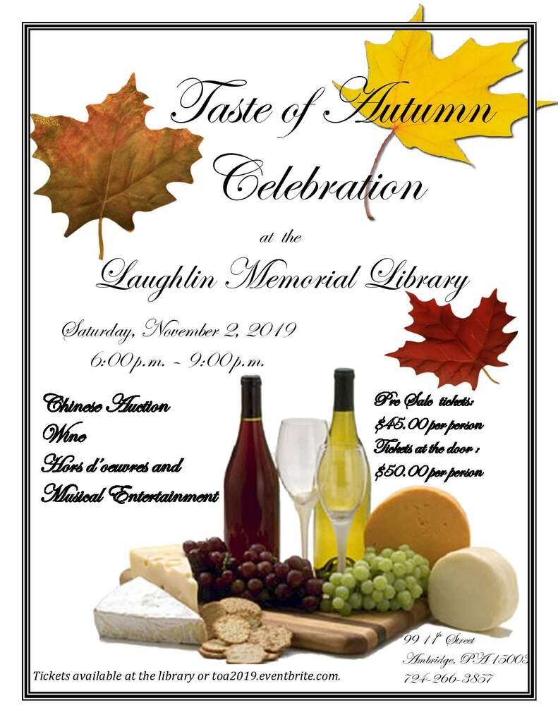 16th Annual Taste of Autumn Celebration