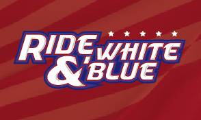 Ride, White, and Blue