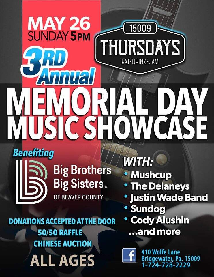 BBBS of Beaver County 3rd Annual Memorial Day Music Showcase
