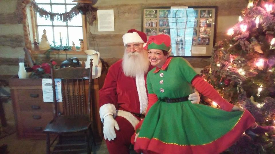 Santa at the Log Cabin
